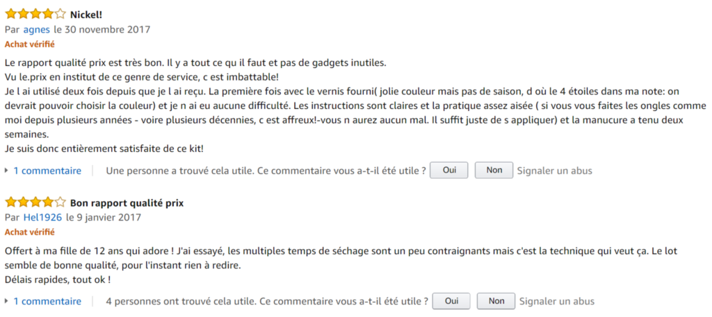 avis amazon meanail unic